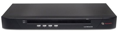 4 PorT SV1000 KVM Switch BDL with 4 CBL0029 cables