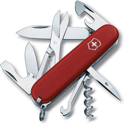 Climber Pocket Knife (Red) - OPEN BOX