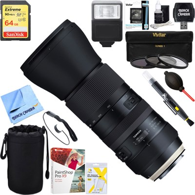 SP 150-600mm F/5-6.3 Di VC USD G2 Zoom Lens for Canon + 64GB Ultimate Kit
