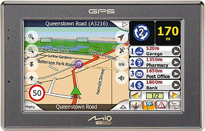 C520 Mobile GPS Navigation System w/ 4.3` Touch Widescreen + bluetooth