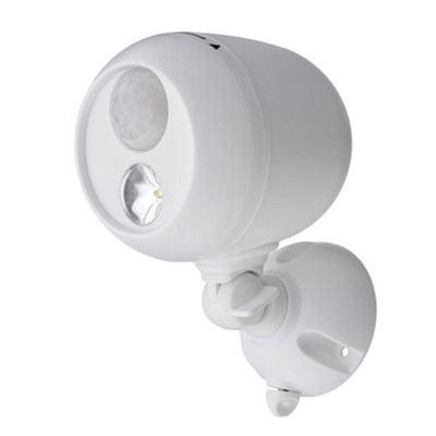 MB330 Wireless LED Spotlight with Motion Sensor & Photocell - White - OPEN BOX
