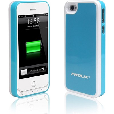 Power iPhone 4/4S Protective External Battery Case - Blue/White