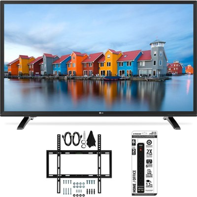 43LH5000 43-Inch Full HD 1080p LED TV Slim Flat Wall Mount Bundle