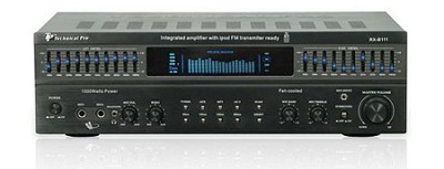 1000 - Watt Power Amplifier with 10 band EQ (Black)
