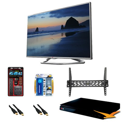 60LN6150 60-Inch 1080p 120Hz LED-LCD HDTV with Smart TV BluRay Bundle
