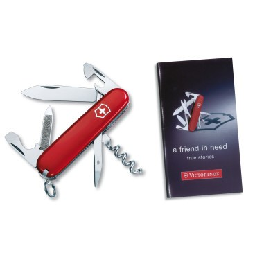 Sportsman Pocket Knife (Red) with 56 Page Booklet
