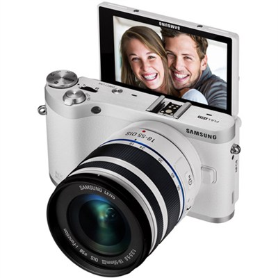 NX300M Mirrorless Digital Camera/18-55mm f/3.5-5.6 ED Lens (White) - OPEN BOX
