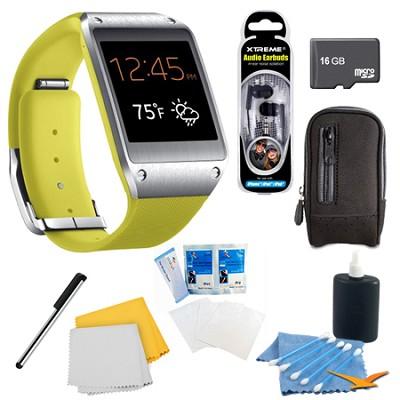 Lime Green Galaxy Gear Smartwatch Memory Bundle