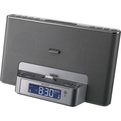 ICF-CS15IPSIL Speaker Dock for iPod and iPhone (Silver) - OPEN BOX