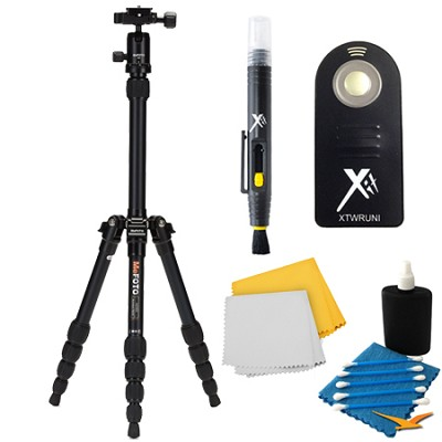 A0350Q0K Backpacker Travel Black Tripod Accessory Kit