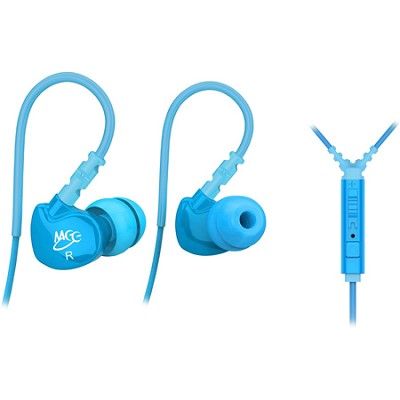 M6P Sports In-Ear Headphones with Universal Inline Mic, Remote, & Volume (Teal)