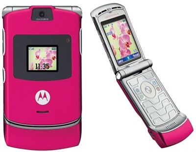 V3 Razr Unlocked GSM Hot Pink/Magenta Edition (US compatible)- OPEN BOX