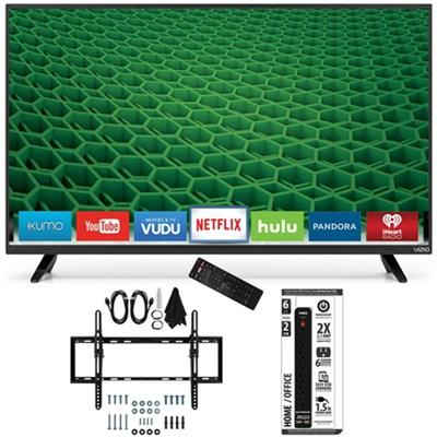 D48-D0 - D-Series 48-Inch Full-Array LED Smart TV Flat + Tilt Wall Mount Bundle
