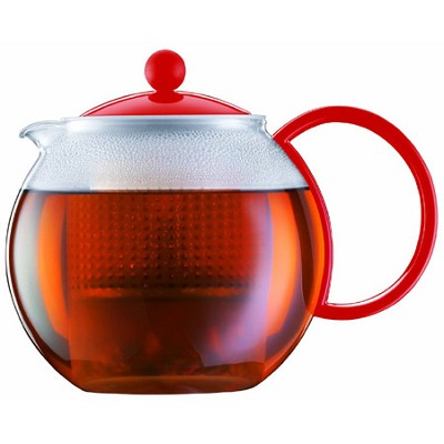 Assam Medium 34 oz Tea Press - Red - OPEN BOX