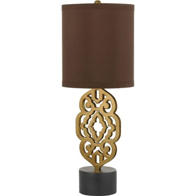 Grill Table Lamp in Satin Brass - 8104-TL