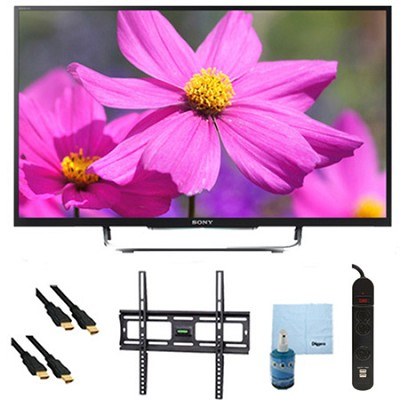 50` LED HDTV 3D WiFi Motionflow XR 480 Plus Mount & Hook-Up Bundle - KDL50W800B