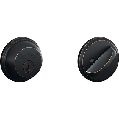 Single Cylinder Deadbolt (Aged Bronze Finish)