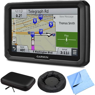 dezl 770LMTHD 7` GPS w/ Lifetime Map/Traffic Updates Case/Friction Mount Bundle