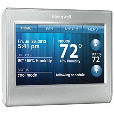 Wi-Fi 9000 Touchscreen Thermostat - Silver