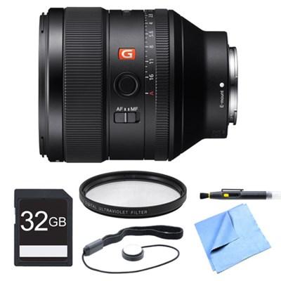 FE 85mm F1.4 GM E-Mount Lens, Filter, and Card Bundle
