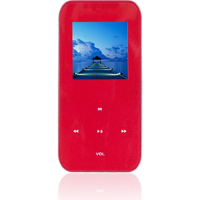 4 GB MP3 Video Player with 1.5` LCD, FM Radio, Recorder (Red)
