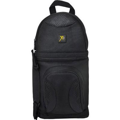 Deluxe Digital Camera/Video Sling Style Shoulder Bag (Black)