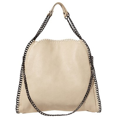 Steve Madden Totally ChainTote Bag (Cream)