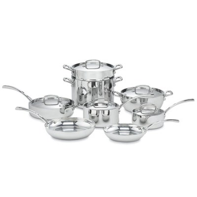 French Classic Tri-Ply Stainless 13-Piece Cookware Set