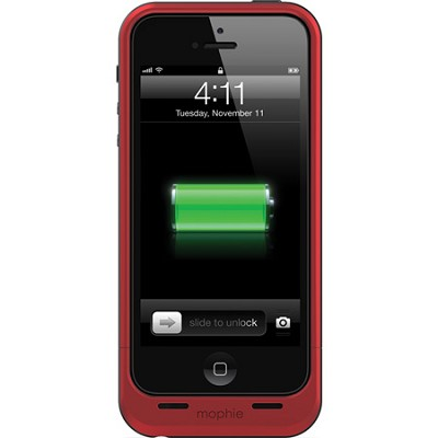 Juice Pack Air Rechargeable External 1700mAh Battery Case for iPhone 5 (Red)