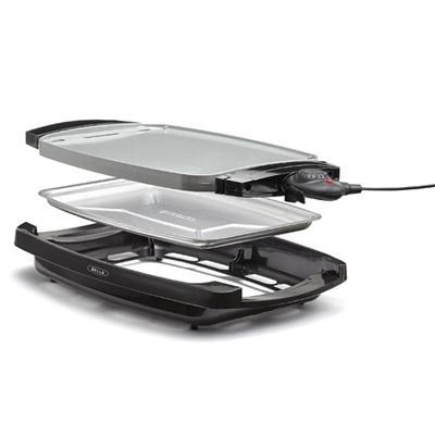 2-in-1 Reversible Grill Griddle Combo 1500W - OPEN BOX