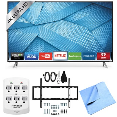 M55-C2 - 55-inch M-Series 120Hz 4K Ultra HD LED Smart TV Mount & Hook-Up Bundle