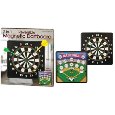 Premium Classic and Baseball 2-in-1 Reversible Magnetic Dart Game