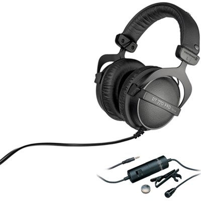 SonicPro Over-Ear High-Res.  Audio Headphones - Gun Metal Grey with Microphone