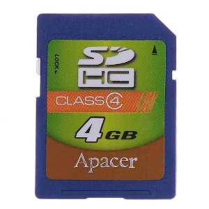 4GB SDHC  Class 4 Memory card
