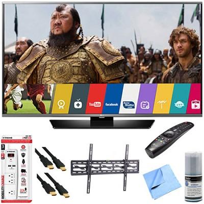 55LF6300 - 55` 120Hz LED Smart HD TV w/ Magic Remote Tilt Mount & Hook-Up Bundle