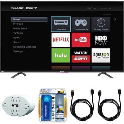N4000 Full HD 43` Class WiFi Roku 60Hz LED Smart TV w/ Hook up Bundle