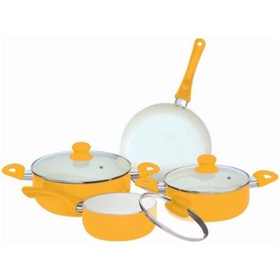 7-Piece Ceramic Cookware Set - Yellow