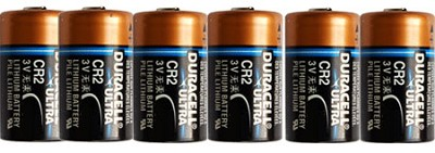 6-Pack of CR2 3V Lithium Photo Batteries