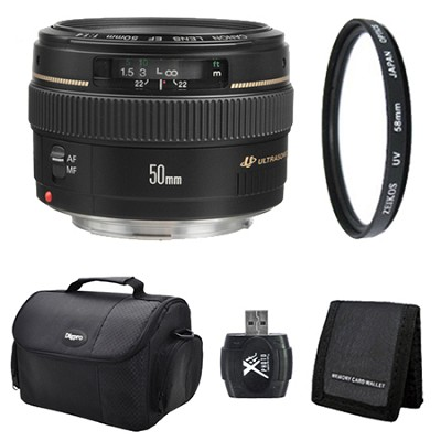 EF 50mm F/1.4 USM Lens for Canon SLR Cameras Exclusive Pro Kit