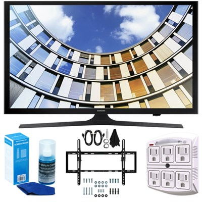 Flat 50-Inch 1080p LED SmartTV (2017 Model) + Wall Mount Bundle
