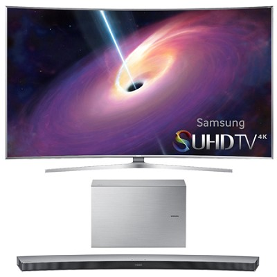 UN65JS9000 - 65-Inch Curved 4K SUHD Smart 3D LED TV w/ HW-J7501 Soundbar Bundle