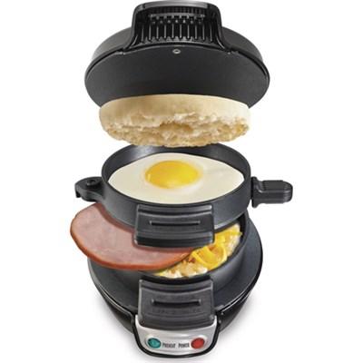 Breakfast Electric Sandwich Maker - Black (25477) - OPEN BOX