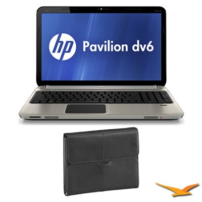 Pavilion 15.6` DV6-6C16NR Entertainment Notebook and Case Bundle