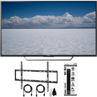 XBR-65X750D - 65` Class 4K Ultra HD TV w/ Flat Wall Mount Bundle