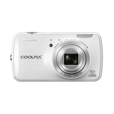 COOLPIX S800c 16MP 3.5 inch LED Digital Camera - White