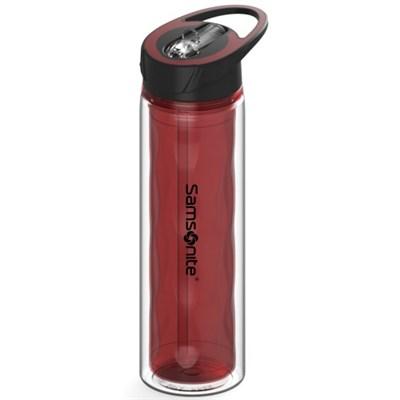 Double Wall BPA-Free 16 oz.. Tritan Ripple Series Bottle - Red