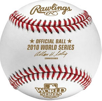 Rawlings 2010 Official World Series Baseball in Cube