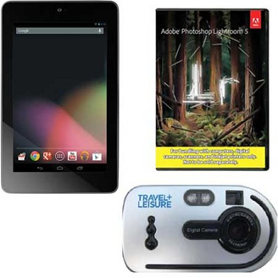Nexus-7 1B32 Quad Core 32GB 7-inch Tablet + Travel Camera + Adobe LR5