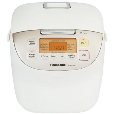 SR-MS103 5-Cup Uncooked / 10-Cup Cooked Rice Cooker - White finish