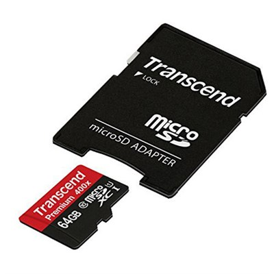 64GB MicroSDXC Class10 UHS-1 Memory Card with Adapter 60 MB/s (TS64GUSDU1)